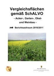 SchALVO Vergleichsflächenbericht 2011.pdf - LTZ Augustenberg