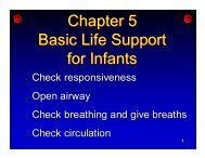 Chapter 5 Infant CPR - Tmrservices.org