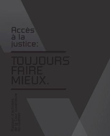 Rapport d'activités - Tribunaux judiciaires du Québec