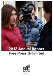 Annual Report Free Press Unlimited 2012, in English