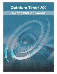 Quintum Tenor AX Configuration Guide