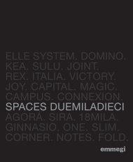 spaces duemiladieci elle system. domino. kea. sulu. joint. rex. italia ...