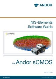 NIS Elements Software Guide - Andor Technology