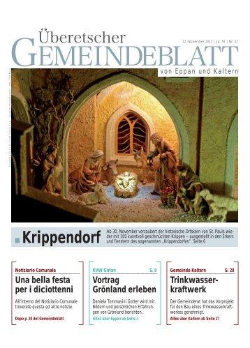 Krippendorf - Gemeindeblatt und der Notiziario