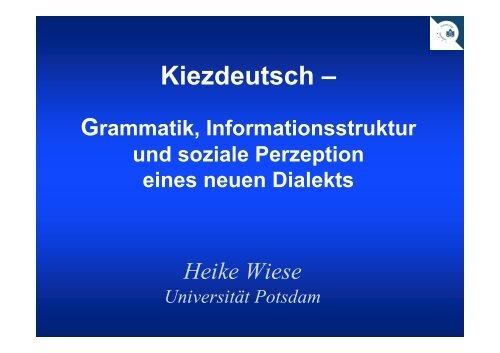 Neue Sprache Dialekt Oder Einfach Nur Falsches 2