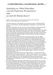 Gedanken an Albert Schweitzer - Walcker Orgelbau