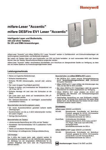 "mifare-Leser ""Accentic"" mifare DESFire EV1 ... - ISG-Online-Shop"