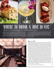 Where to Drink & Dine in NYC - Wine & Spirits Magazine