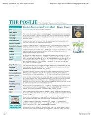 Doonbeg figures up as golf resort adapts | The Post - Timbers Resorts