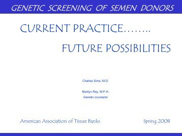 Carrier Frequency - American Association of Tissue Banks