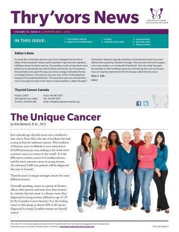 Winter 2012-13 - Thyroid Cancer Canada