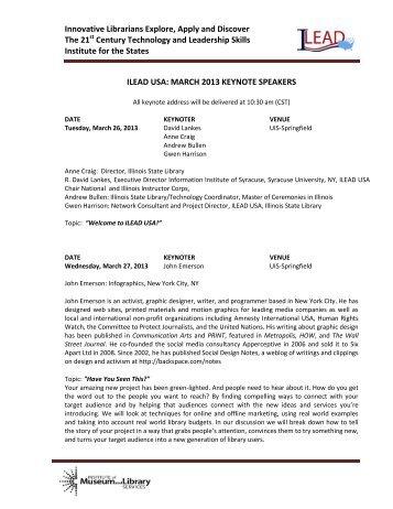 ILEAD USA Keynote Binder - WebJunction