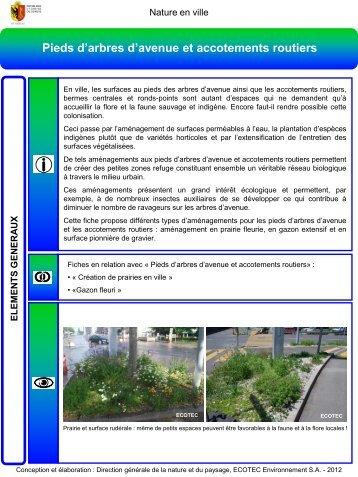 Pieds d'arbres et accotements routiers - Etat de Genève