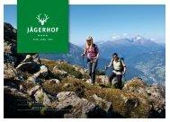 Summer rates brochure 2013 (pdf – German) - Hotel Jägerhof in Zams