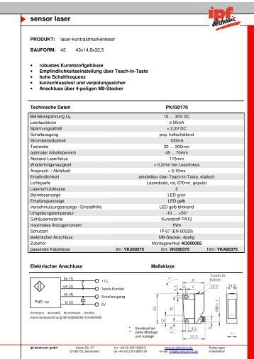 sensor laser - IPF Electronic GmbH