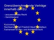 Grenzüberschreitende Verträge innerhalb der EU