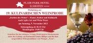Einladung zur Weinprobe als PDF - Flair Park-Hotel Ilshofen