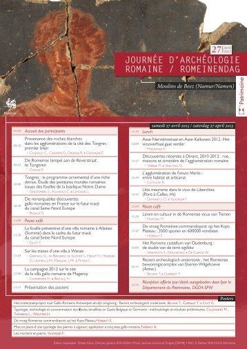 JOURNÉE D'ARCHÉOLOGIE ROMAINE ... - Signa romana