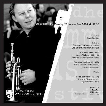 Pressemelding fra Trondheim symfoniorkester(PDF) - Scenekunst.no
