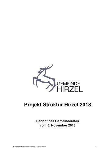 Projekt Struktur Hirzel 2018 - Gemeinde Hirzel