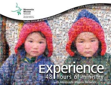 A N N U A L R E P O R T 2 0 0 5 - Mennonite Mission Network
