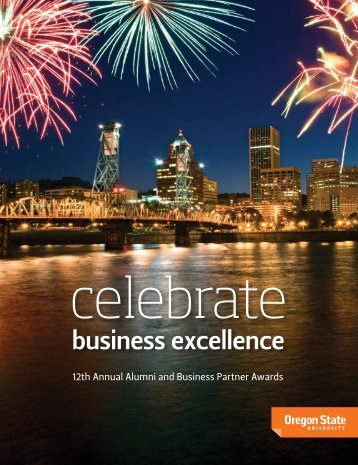 business excellence - College of Business - Oregon State University