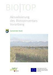 Aktualisierung des Biotopinventars Vorarlberg