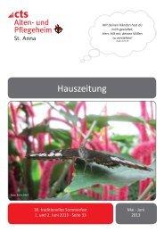 Hauszeitung 03-2013 St. Anna.indd - und Pflegeheim St. Anna