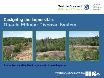 On-site Effluent Disposal System - HydroScience Engineers, Inc.