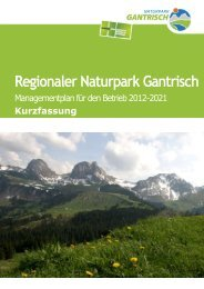 Managementplan - Naturpark Gantrisch