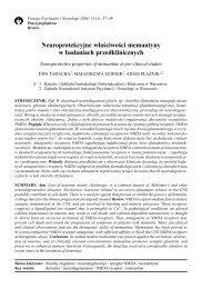 Neuroprotekcyjne w³aściwości memantyny w badaniach ... - Lundbeck