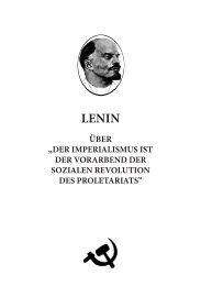 Der Imperialismus ist der Vorabend der sozialen Revolution des ...