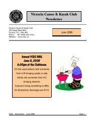 June - Victoria Canoe and Kayak Club