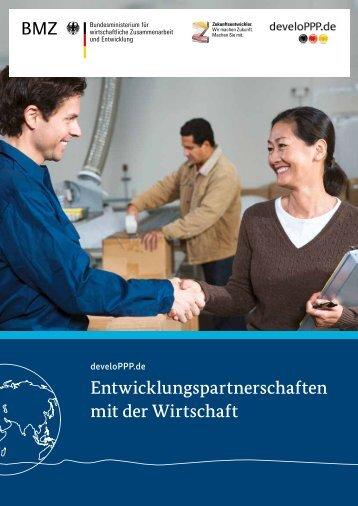 Entwicklungspartnerschaften mit der Wirtschaft - develoPPP.de