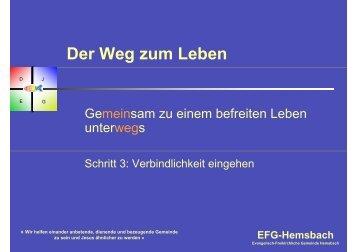 Der Weg zum Leben - EFG Hemsbach