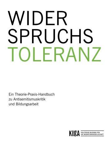 Widerspruchstoleranz - Kreuzberger Initiative gegen Antisemitismus