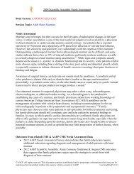 Adult Heart Murmurs Needs Assessment Murmur - American ...