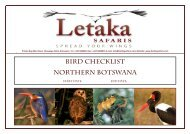 Bird checklist Northern botswana - Birding Safaris