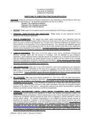 Practicum Application - Villanova University