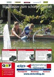 Wasserpumpen-Prospekt 2013 - Deterding GmbH