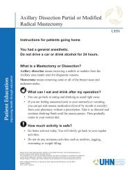 Axillary Dissection Partial or Modified Radical Mastectomy