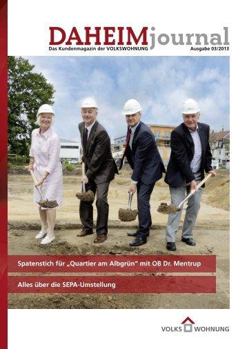 DAHEIMjournal als PDF - Volkswohnung