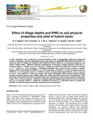 Effect of tillage depths and IPNS on soil physical properties and ...