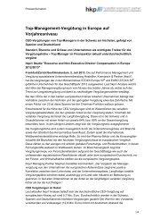 Top-Management-Vergütung in Europa auf Vorjahresniveau