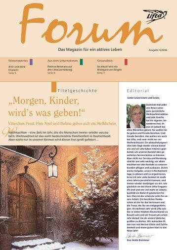 Lifta Forum: Das Alter und seine Chancen – LiftaCare-Katalog ...