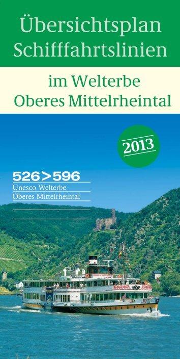Schifffahrtsplan Oberes Mittelrheintal