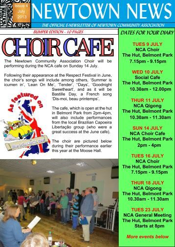 July Newsletter - The Newtown Community Association