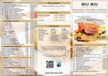 Download Speisekarte - MIU MIU