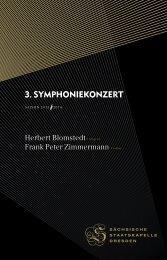 3. Symphoniekonzert - Staatskapelle Dresden