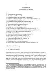 Drittes Kapitel Sprache lernen und verstehen